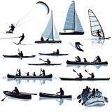 Diverse Wassersport-Arten Illustration - 175054402