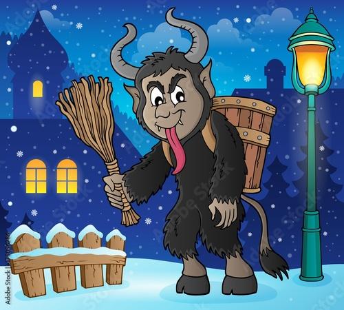 Deurstickers Voor kinderen Krampus theme image 3