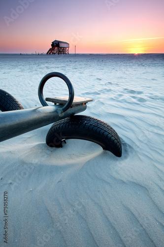Deurstickers Noordzee Strand in St. Peter Ording