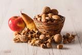 Autumn fruits in basket - 175058418