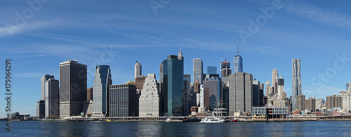 New York Manhatten Side with Hudson River - 175064291