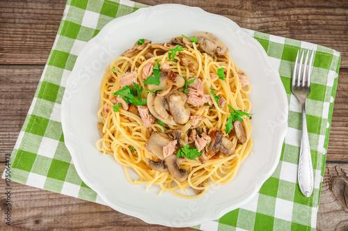 delicious pasta with tuna