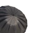 Big black umbrella isolated on a white background. - 175066062