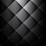 Vibrant Black Geometric Background - 175066864