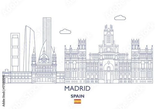 Madrid City Skyline, Spain