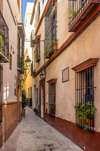 Colourful street in Seville