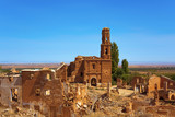 remains of the old town of Belchite, Spain - 175074044