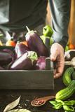 Farmer with aubergine - 175074090
