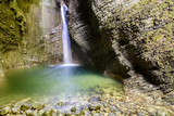 Waterfalls and water games in the Julian Alps