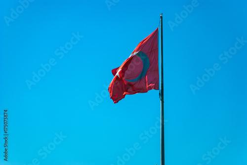 逆光の中のトルコ国旗 Poster