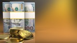 3d of dollar banknotes - 175079406