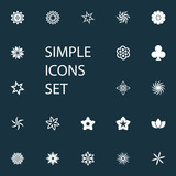 Vector Illustration Set Of Simple  Icons. Elements Flower, Helianthus, Lucky Leaf And Other Synonyms Tulip, Flower And Bouquet. - 175083081