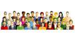 Menschen teilnehmer Gruppe Illustration