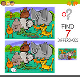 search differences game with animals - 175086261