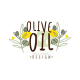 Olive Oil Label With Some Olive Branches vector illustration - 175094404