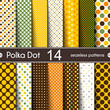 14 Different Round Shape Vector Seamless Patterns.