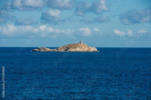 Deurstickers Toscane Veduta panoramica dello Scoglietto presso isola d'Elba