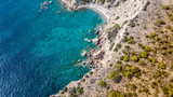 September 2017: Aerial View of Fourni Beach, Rodos island, Aegean, Greece - 175116687