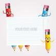 Funny pencils with space for text