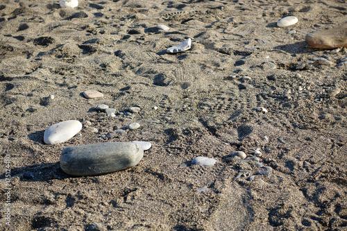 Spoed canvasdoek 2cm dik Stenen in het Zand Stones on sand
