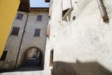 Cecina, small medieval village on Garda lake in northern Italy - 175126015
