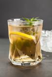 Ice tea with lemon and mint - 175126616