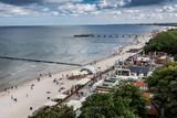 Kołobrzeg,plaża. Morze Bałtyckie.