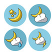 Weather icons set icon vector illustration graphic design