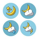 Weather icons set icon vector illustration graphic design - 175131653
