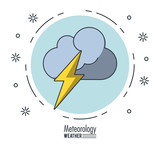 Meteorology and weather icon vector illustration graphic design - 175131807