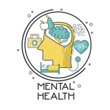 Mental health design icon vector illustration graphic design - 175132207