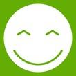 Smiling emoticon green