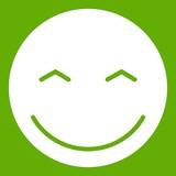 Smiling emoticon green - 175132451