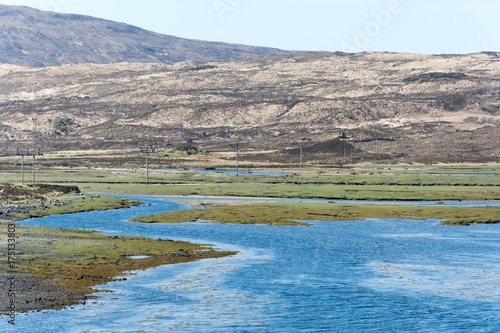 Foto op Plexiglas Blauwe jeans Scenic natural view of Scottish Highlands, United Kingdom