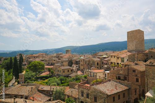 Spoed canvasdoek 2cm dik Toscane San Gimignano, Tuscany, Italy