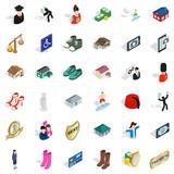 Photo icons set, isometric style - 175136826