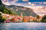 Must see in Italy. Lake Como. Varenna, Italy. Summer time. European vacation, living life style, architecture and travel concept. - 175141850