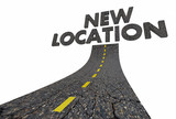 New Location Road Words Moved Relocated 3d Illustration - 175148034