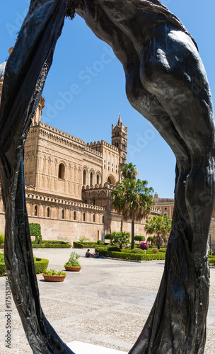 Fotobehang Palermo Palermo cathedral, is a place of Catholic worship.