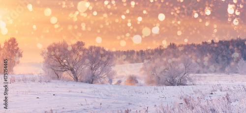 Staande foto Beige Christmas background