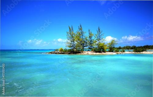 Staande foto Tropical strand motu ilot sur le lagon turquoise de tikehau polynésie française