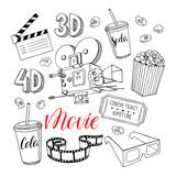 set of cinema attributes - 175157425