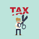 Foreman tax payment deduction. Business Concept vector Illustration. - 175158236
