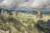 Peak in High tatras mountains with clouds - 175159243