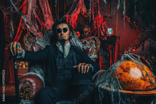 vampire on halloween Poster
