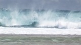 Enormous surfing wave crash on beach - 175161002