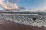 Waves on Baltic coast - seascape at sunrise, Poland - 175166686