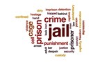 Jail animated word cloud, text design animation. - 175171400