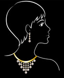 woman in jewelry