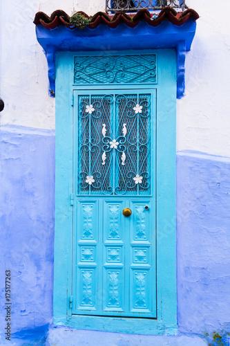 Fotobehang Marokko 青い街 シャウエン